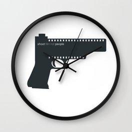 Shoot film not people Wall Clock