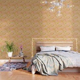 Gold Caramel Pastel Pink Wallpaper