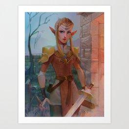 Elven Zelda Art Print