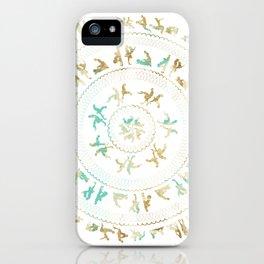 Kama Sutra Mandala Blue and Gold iPhone Case