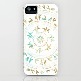Kama Sutra Mandala Blue and Gold iPhone Case