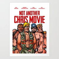 chris evans Art Prints featuring Not Another Chris Movie by Randy Meeks