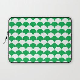 Green Fan Shell Pattern Laptop Sleeve