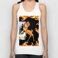 givenchy Tank Tops featuring Givenchy scarf with flame and bambi print by Le' + WK$amahoodT Boutique by Paynasa®