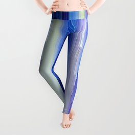 Frozen blue waterfall abstract digital painting Leggings