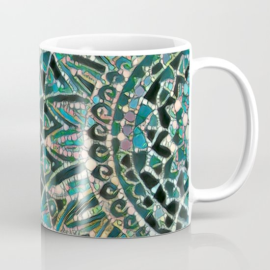 Bloom Mandala in Ocean Mug