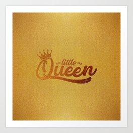 Little Queen (Gold) Art Print
