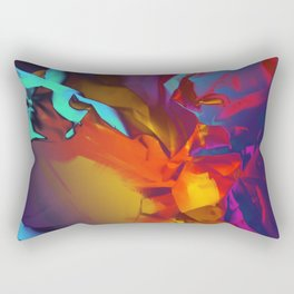 New Dream. Blue, Yellow and Red Abstract. Rectangular Pillow