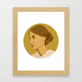 Queer Portrait - Virginia Woolf Framed Art Print