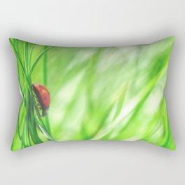 Small beetle in high grass Rectangular Pillow