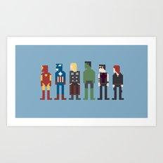 The Avengers 8-Bit Art Print