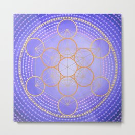 Metatron's cube painting on canvas Metal Print