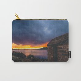 Southwest Lake Sunset Carry-All Pouch