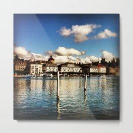 Lake Lucern Metal Print