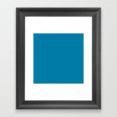 #007BA7 Cerulean Blue Framed Art Print