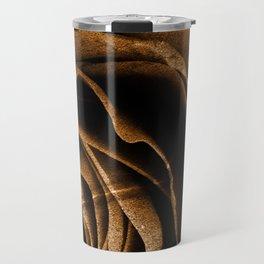 Sepia Grunge Rose Travel Mug