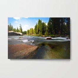 Rocks In The Stream Metal Print