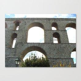 ancient Roman aqueduct Canvas Print