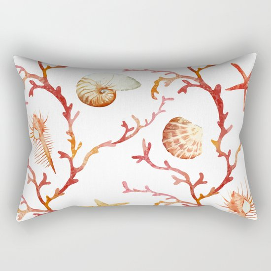 Sea Life Pattern 13 Rectangular Pillow