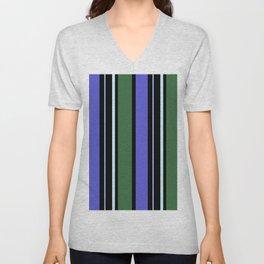 Stripes in colour 6 Unisex V-Neck