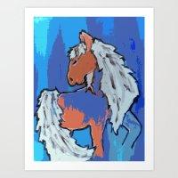 Beach; horse Art Print