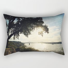 Mississippi River at Natchez Rectangular Pillow