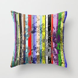 Smearing The Lines Of Colour Throw Pillow