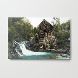 Crystal Mill Metal Print