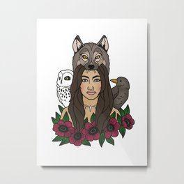 wolfgirl Metal Print