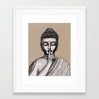 buddha Framed Art Prints featuring BUDDHA by Vanya