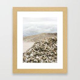 Oyster Shell Mounds, Seafood Fishing Industry, Washington, Northwest Framed Art Print