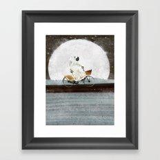 shopping for astronauts Framed Art Print
