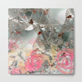 Misty rose garden Metal Print