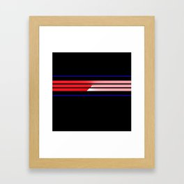 Team Colors 5...Red,blue Framed Art Print