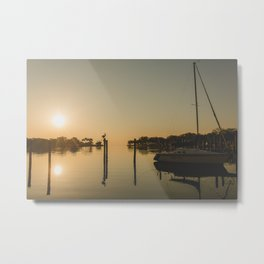 Sailboat Sunrise - Coffee Pot Bayou | St Pete, Florida Metal Print