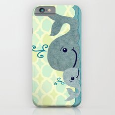 Whale Mom and Baby iPhone 6s Slim Case