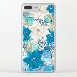 Blue Winter Clear iPhone Case
