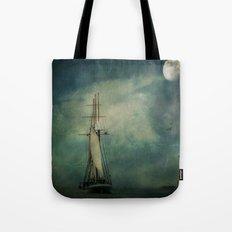 Sail away into the night Tote Bag