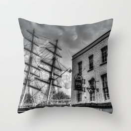 The Cutty Sark and Gypsy Moth Pub Throw Pillow