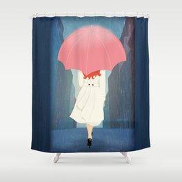 She Went Walking In The Rain Shower Curtain