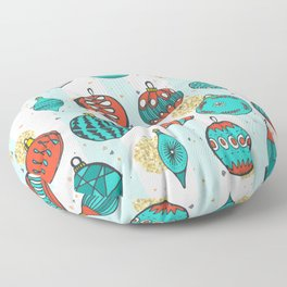 Bright MidCentury Christmas 1.0 Floor Pillow