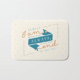 """I am with you"" Bible Verse Print Bath Mat"