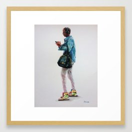 The Bag and the Kicks Framed Art Print