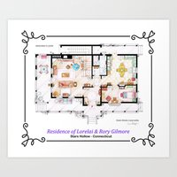 House of Lorelai & Rory Gilmore - Ground Floor Art Print