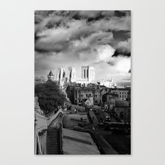 York Minster and walls in the sun Canvas Print