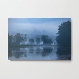 Peaceful Blue Metal Print