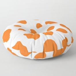 Cow Print Background Orange Color Floor Pillow
