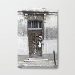 Streetart Women in Avignon Metal Print
