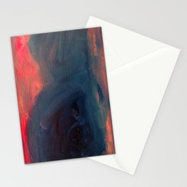 Angry Mountain / Female Figure Stationery Cards