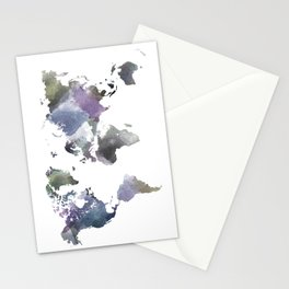 Watercolor World Stationery Cards